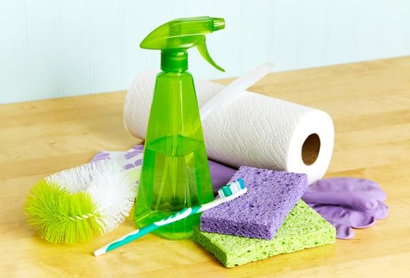 Bathroom Spring Cleaning Supplies