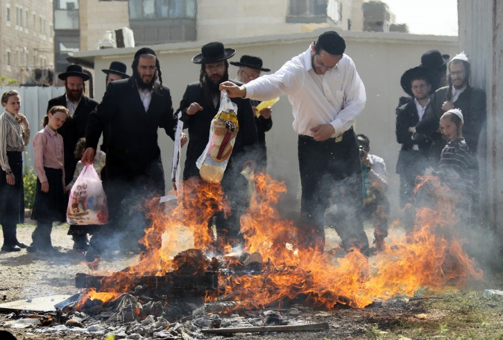 Burning Chametz Before Passover