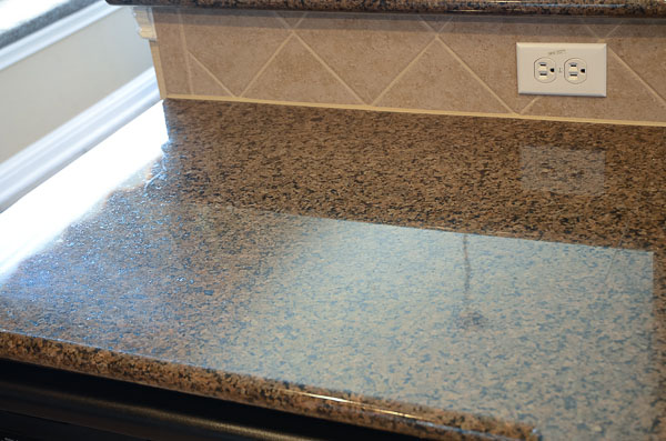 shiny clean countertop