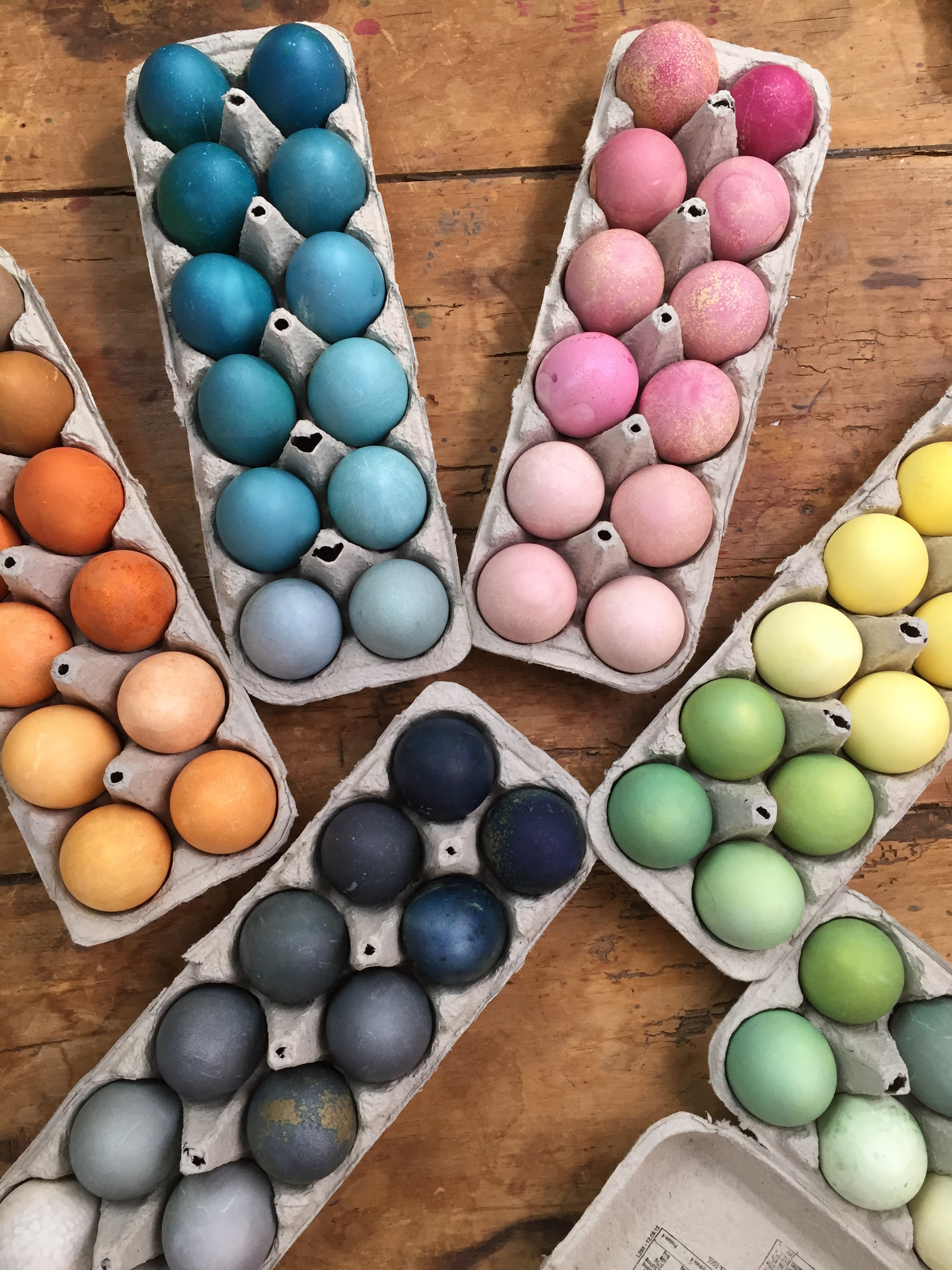 colorful-array-of-painted-rainbow-easter-eggs
