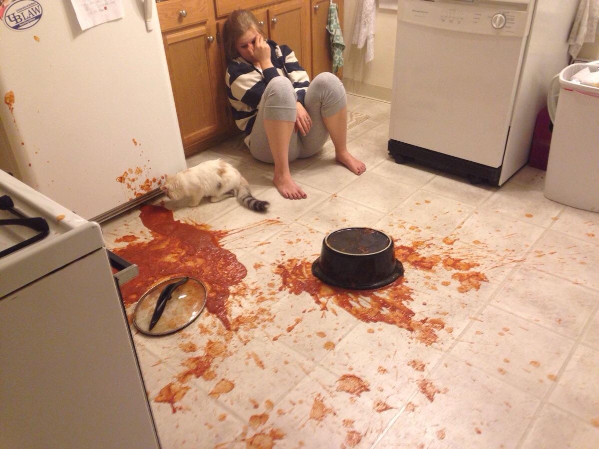 spilled-spaghetti-sauce-kitchen-emergency