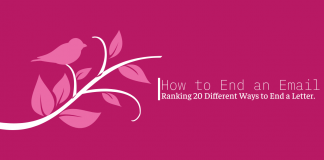 How to End an Email: Rating 20 different ways to end a letter
